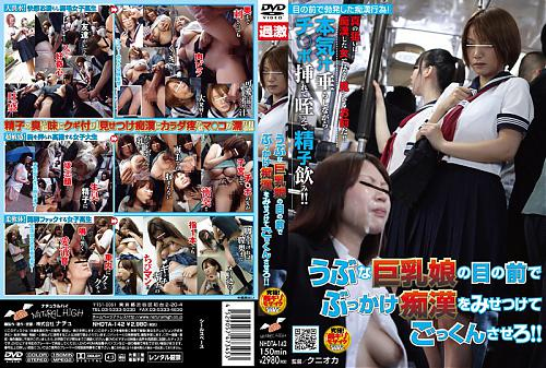 Meguru Kosaka - Molester Rape in front of Innocent Busty Girl